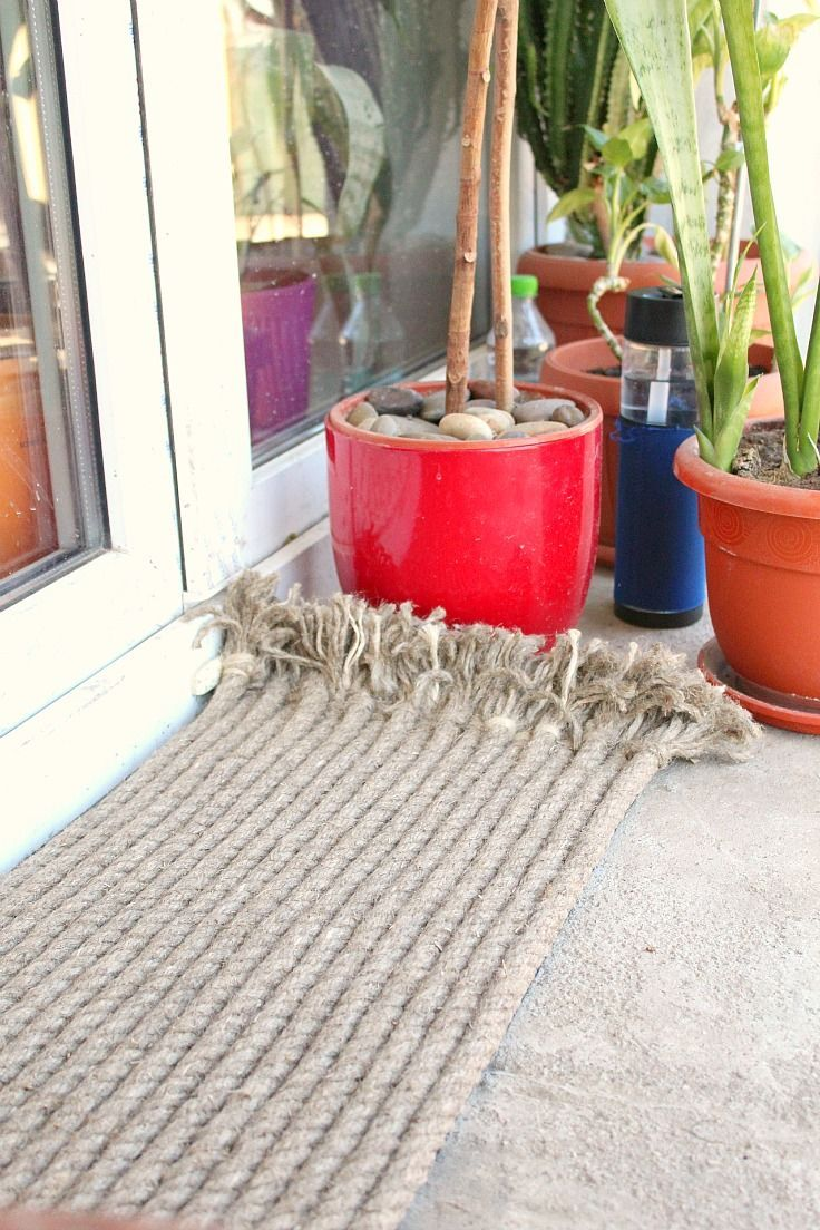 Diy Outdoor Rug Made With Rope Dress Up Your Entryway With A