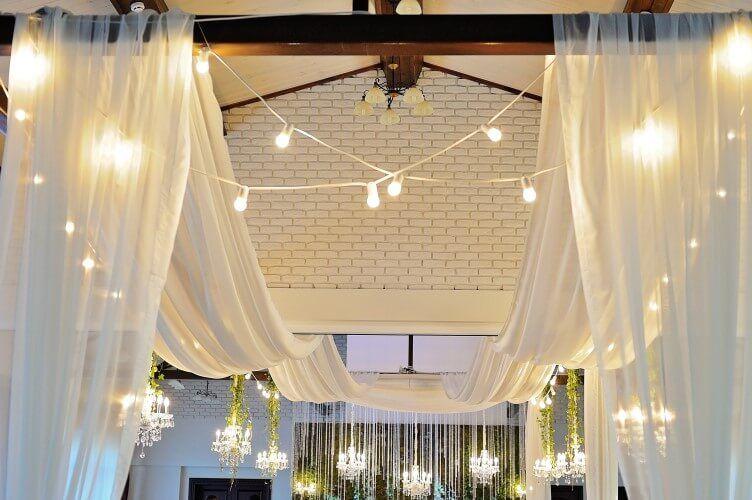 30 Foot Long Ceiling Drape | 4 Beautiful Sheer Fabric ...