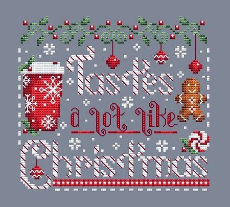 Photo of Tastes Like Christmas — Shannon Christine Designs Cross Stitch Patterns