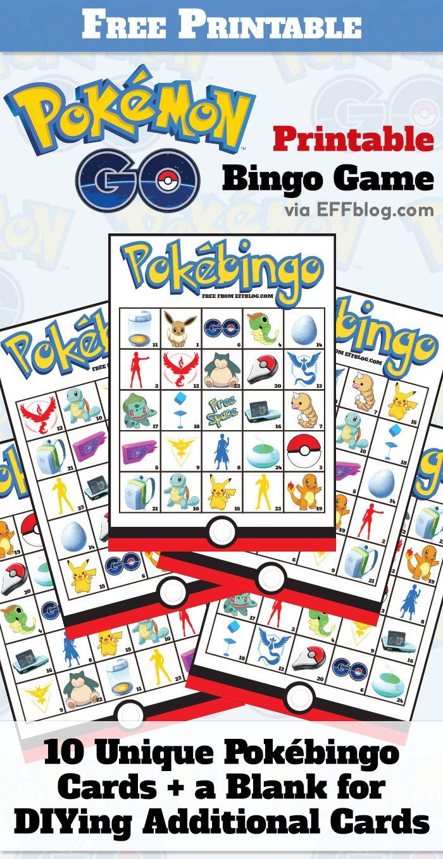 Pokémon GO PokéBingo Free Printable Bingo Game Pokemon