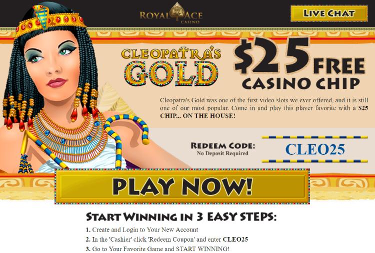 Royal Ace Casino 25 Free No Deposit Bonus Casino Free Slots Casino Casino Bonus