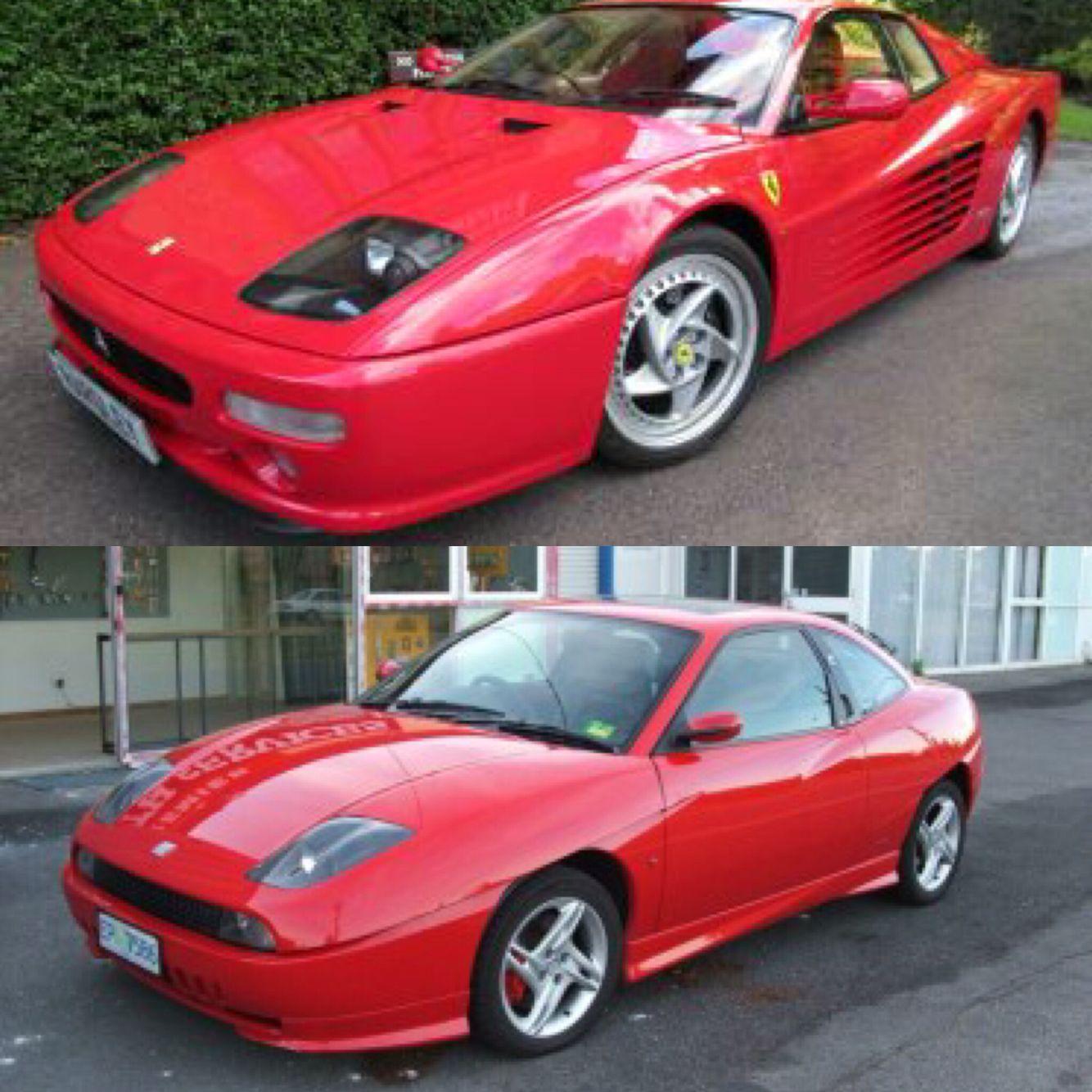 Distant Cousins Ferrari Fiat Enzari 512tr Fiatcoupe Cars Italia Cool Sports Cars Fiat Coupe Sports Cars