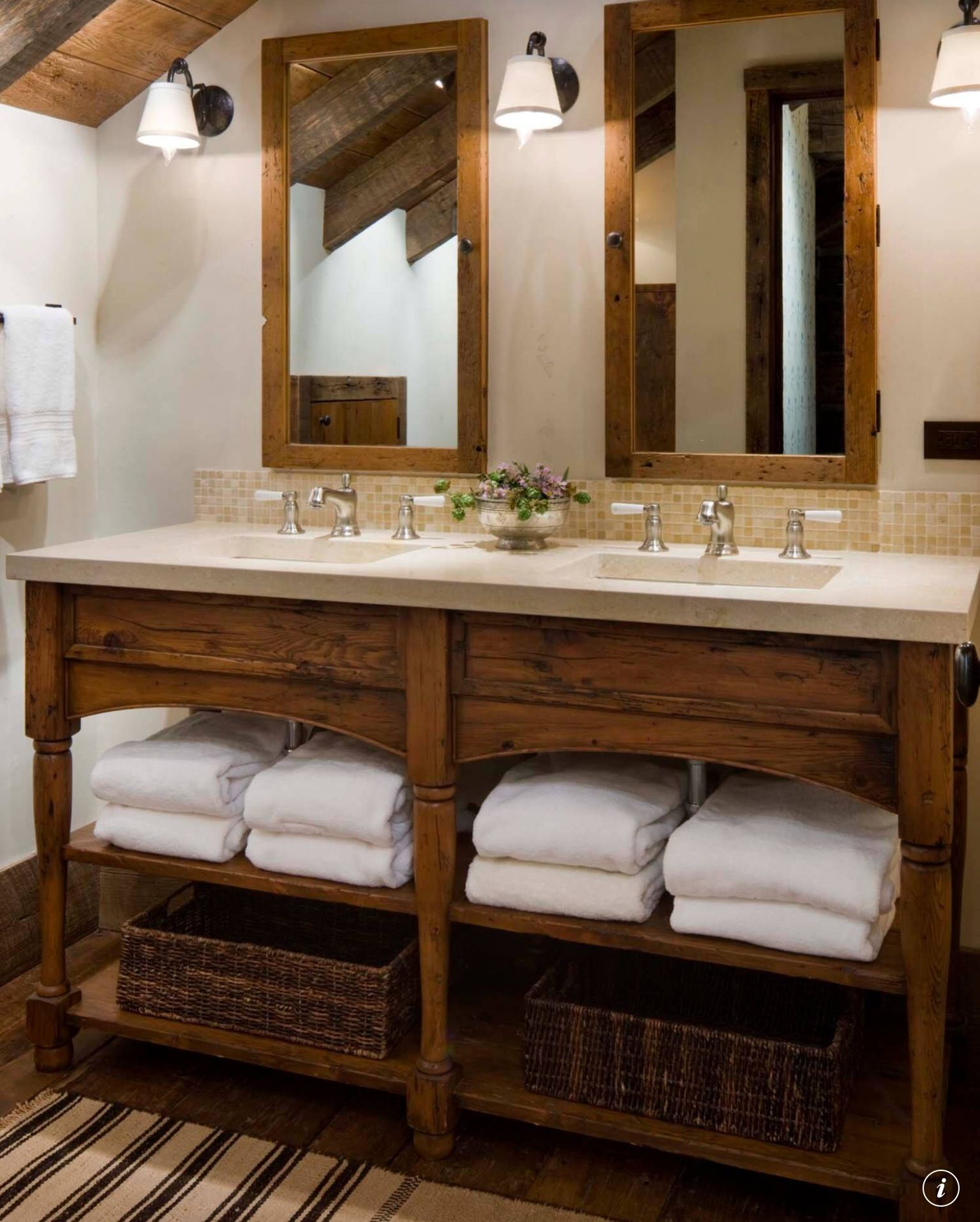 Rustic Bathroom With White Shiplap: Rustic Bathroom Designs
