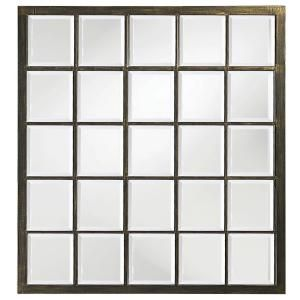 Medium Rectangle Oil Rubbed Bronze Beveled Glass Classic Mirror 38 In H X 34 In W 9068 The Home Depot Black Wall Mirror Window Pane Mirror Large Wall Mirror Howard elliott 9068 superior mirror