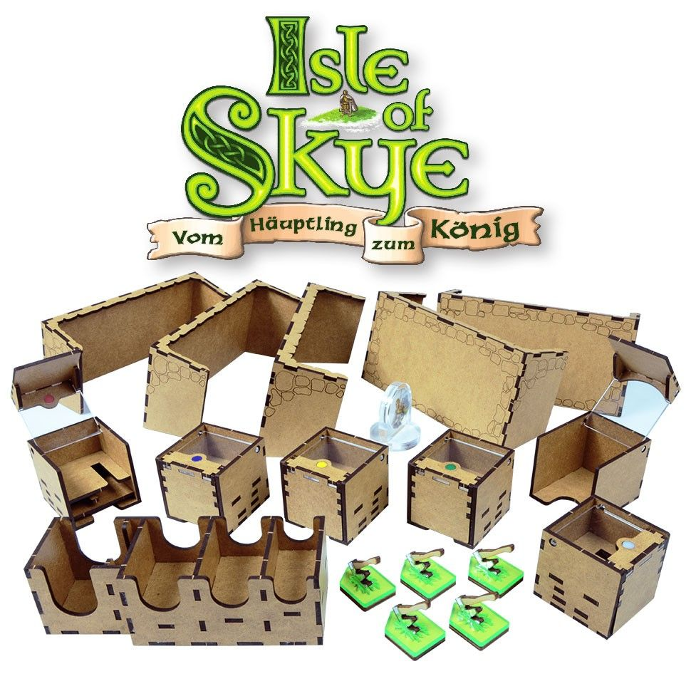WOODEN GAME ORGANIZER FOR ISLE OF SKYE BOARD GAME