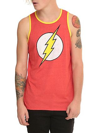 05357523a DC Comics The Flash Logo Tank Top, RED | American Idiot | Graphic ...