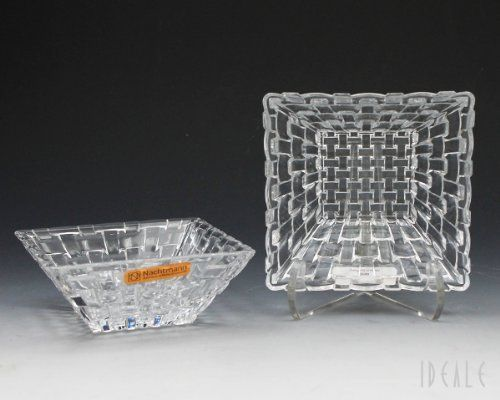 Nachtmann fine Bavarian crystal which is the lifestyle division of Riedel Glass Works offers Dancing Stars Bossa Nova two piece square condiment bowl set. Beautiful addition to your serveware collection. Terrific gift to give or keep for yourself.