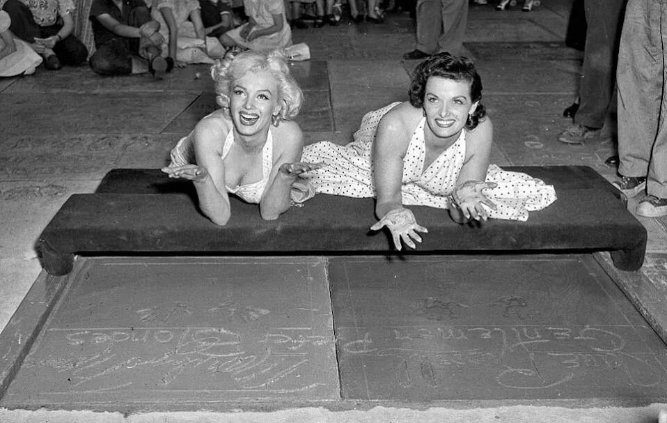MM and Jane Russel