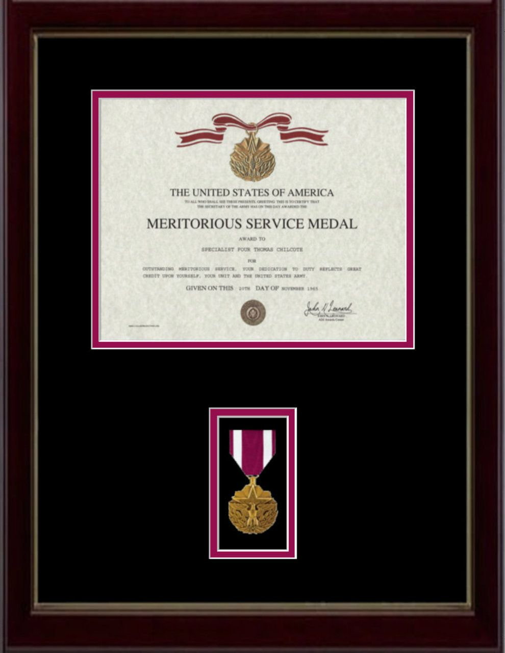 Meritorious Service Certificate Frame | Pinterest