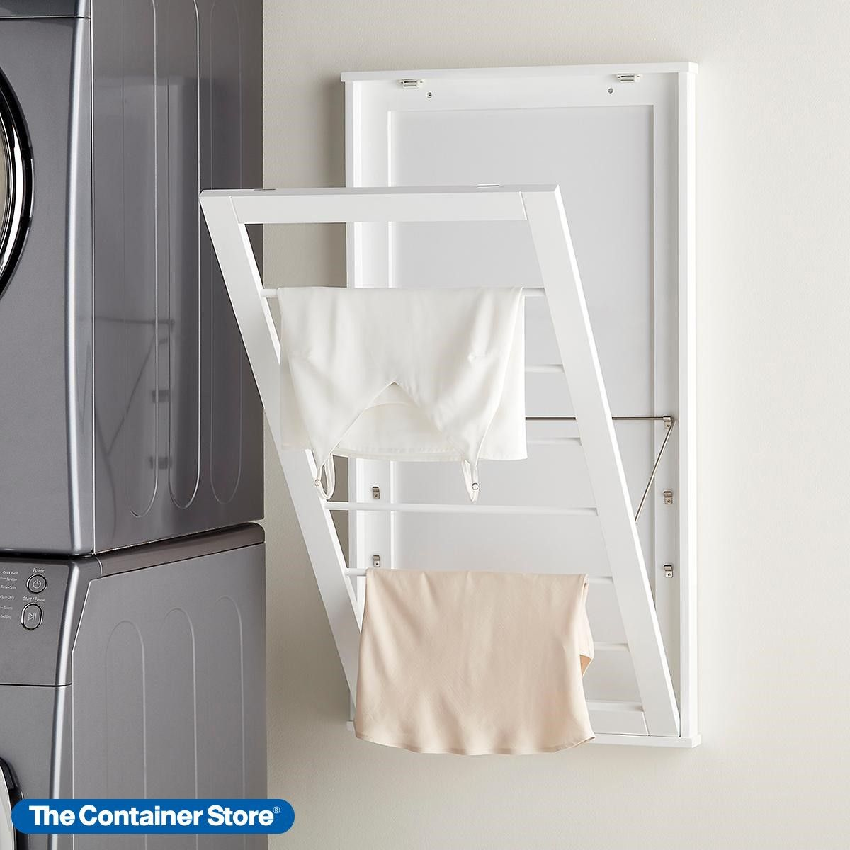 6 Tier Adjustable Wall Mounted Drying Rack Wall Mounted Drying Rack Drying Rack Laundry Rack