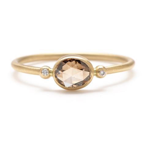 Rebecca Overmann Champagne Diamond Ring