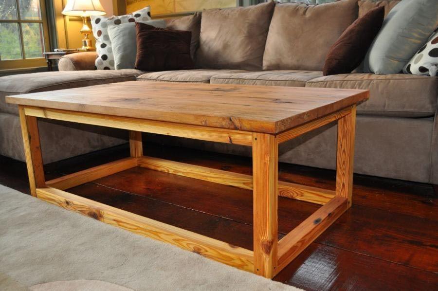 Charmant Heart Pine Coffee Table