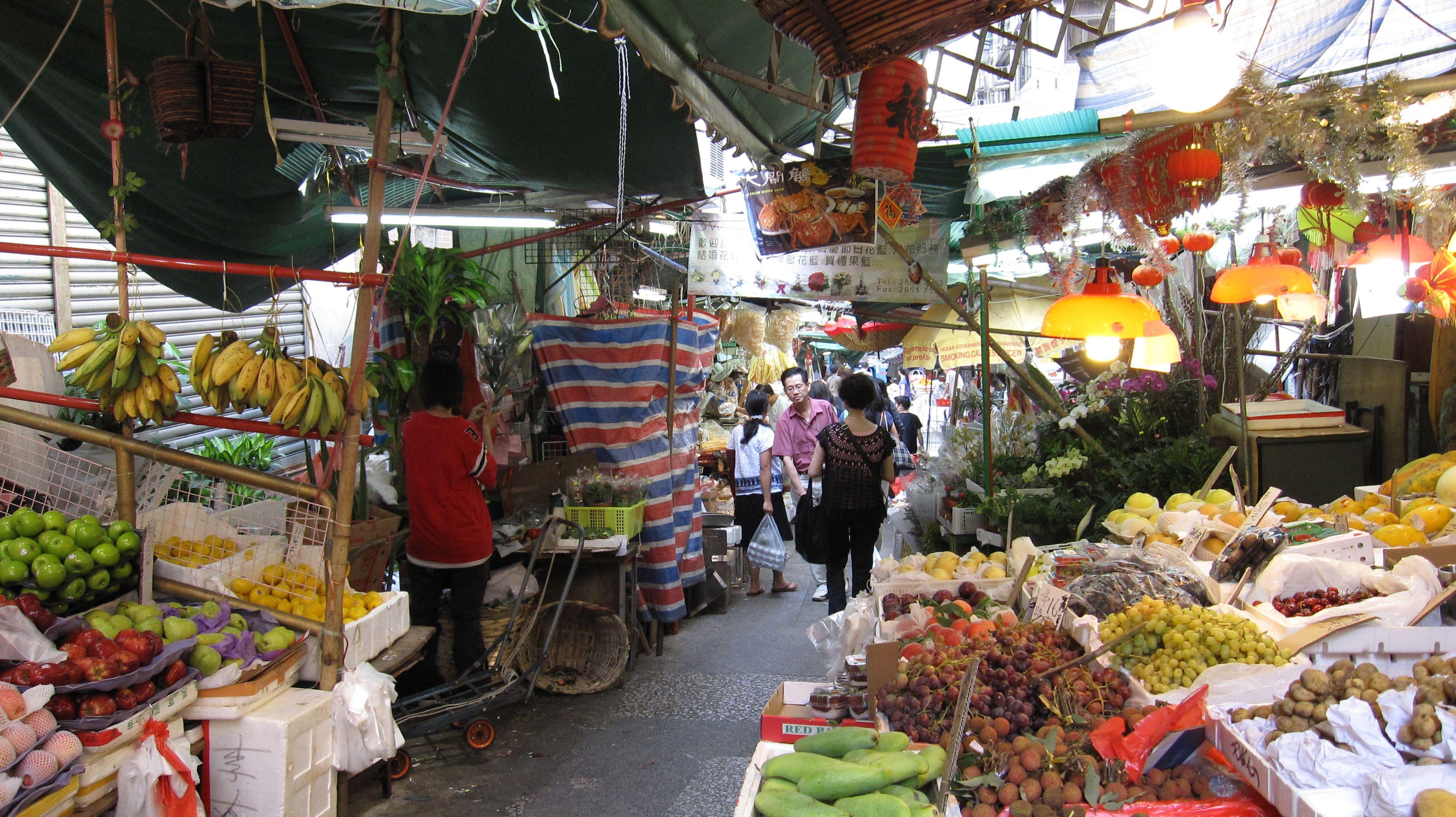 Market Place In Hong Kong Places In Hong Kong Hong Kong Places