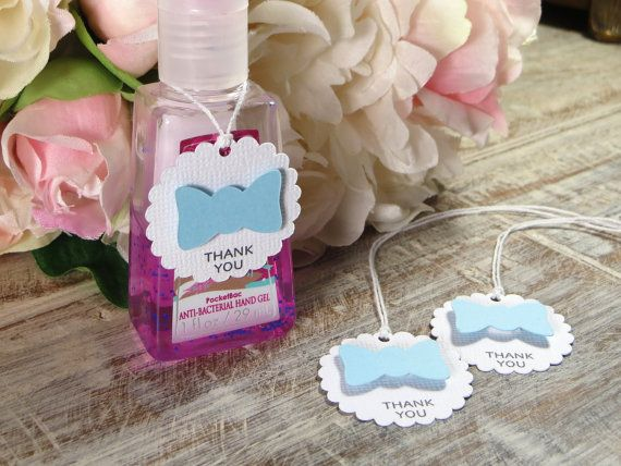 Little Man Baby Shower Favor Tags Bow Tie Hand By Wildsugarberries