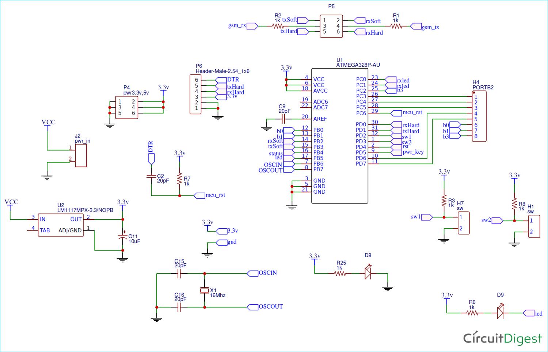 Diy Location Tracker Using Gsm Sim800 And Arduino Circuit Diagram Arduino Vehicle Tracking System