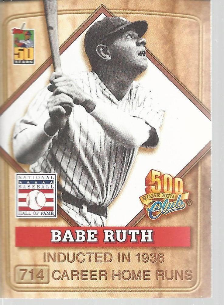 Babe Ruth Baseball Post 500 Home Run Club Topps 2001 1 Of 8 Yankees Newyorkyankees Babe Ruth Baseball Babe Ruth Homerun