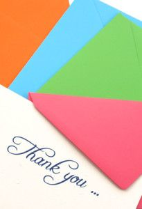 Thank you note example