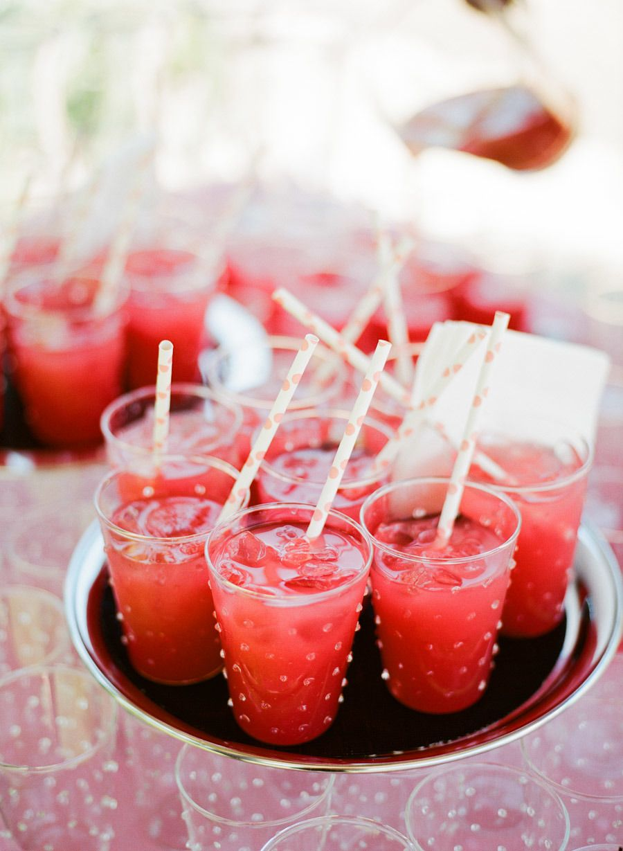 California Coral Wedding From Meg Smith Photography Food Yummy Drinks Watermelon Refresher