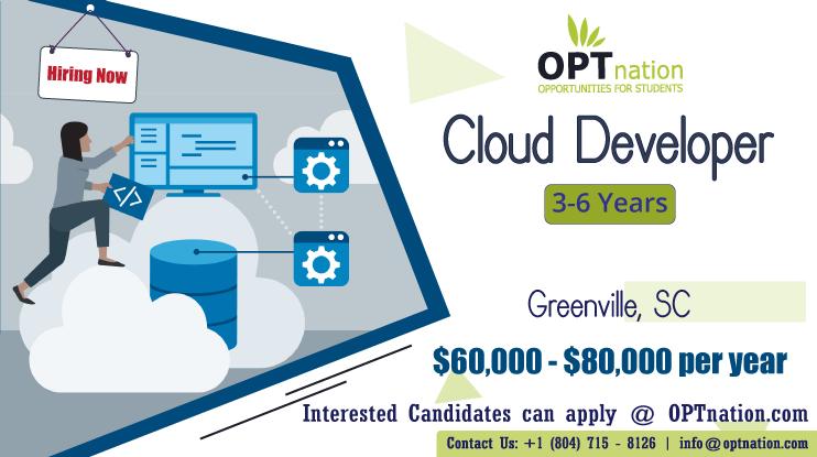 We're Hiring Cloud Developer in Greenville, SC. Build your