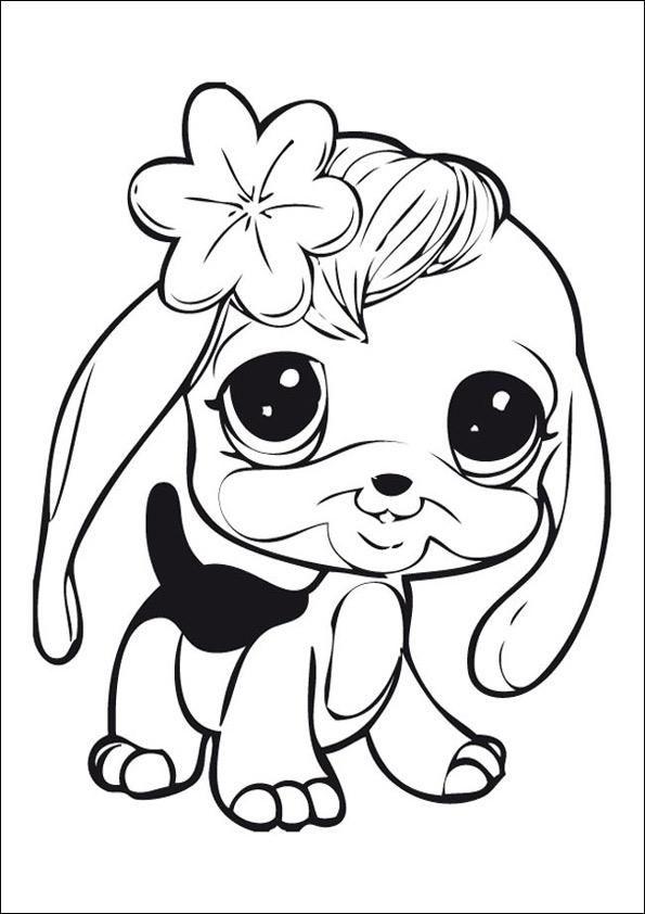 ausmalbilder hunde für kinder  dog coloring page animal