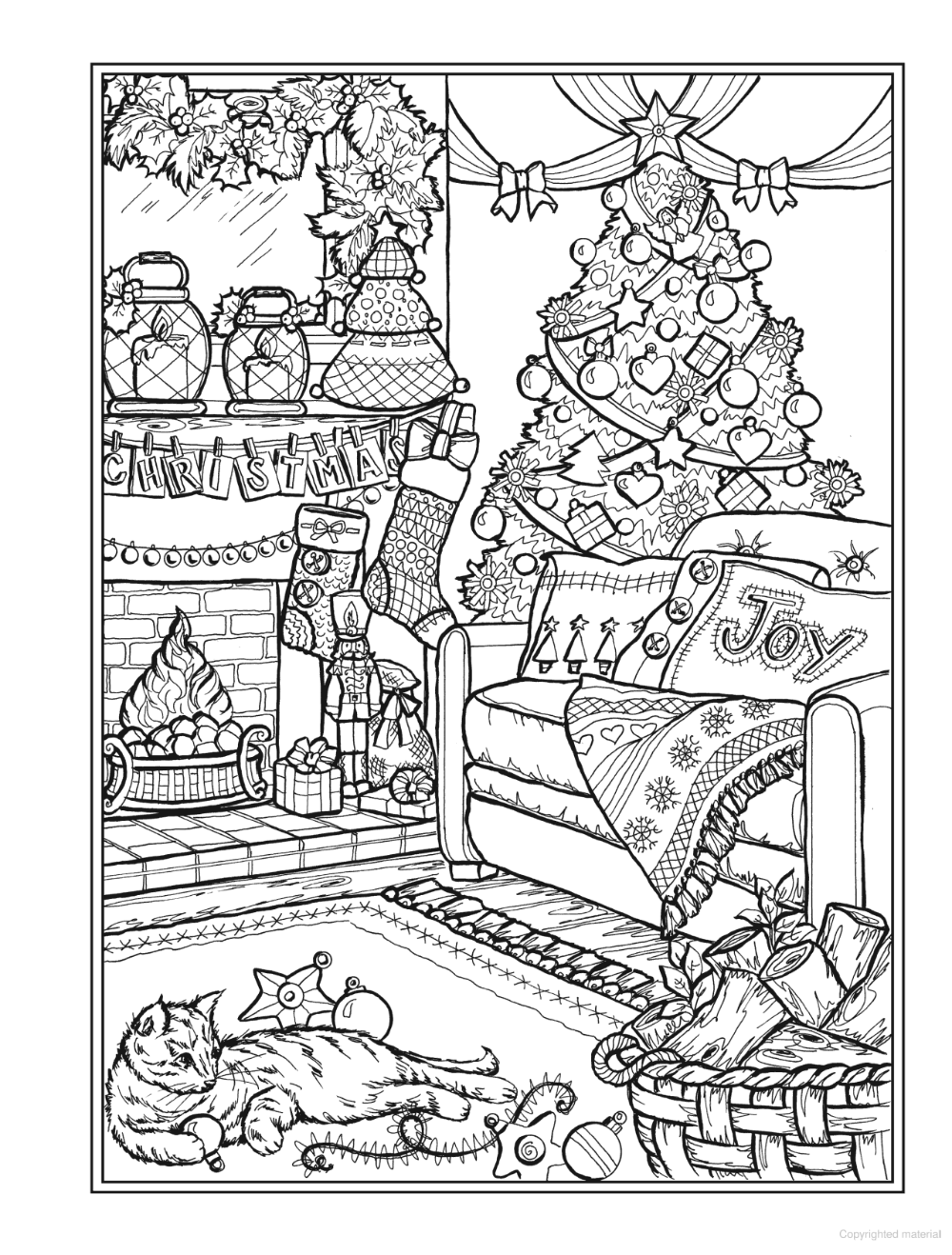 Creative Haven Christmas Charm Coloring Book Printable Christmas Coloring Pages Christmas Coloring Sheets Coloring Pages