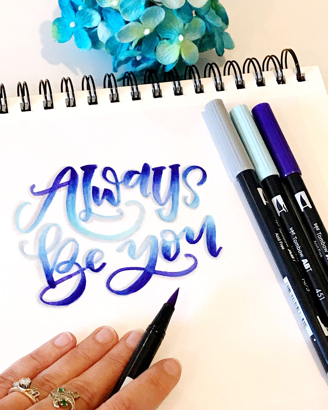 Tombowfeature Instagram Photos And Videos Hand Lettering Alphabet Brush Pen Lettering Hand Lettering Inspiration [ 1350 x 1080 Pixel ]