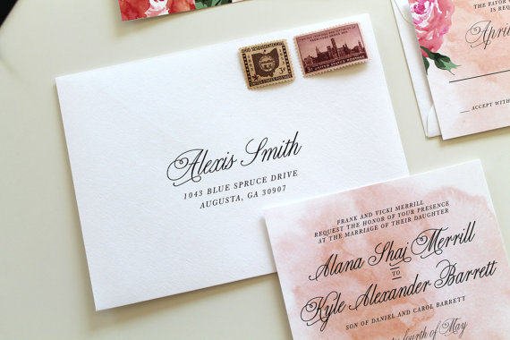 Custom Wedding Envelope Printing