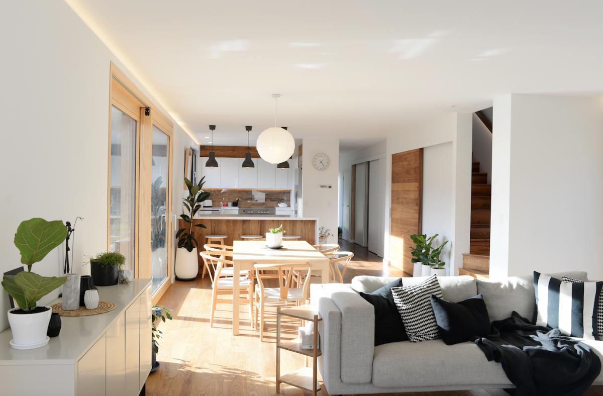 Climate House Passive Eco Living Open Wooden Floor Indoor