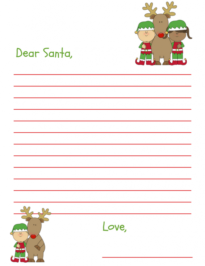 Dear Santa Letter Free Printable For Kids and Grandkids