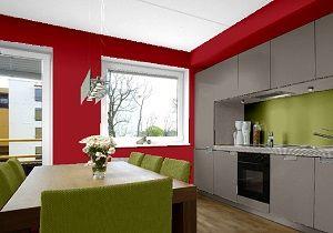Farbgestaltung Küche küche farbkombination die wandfarben in amarena manhattan