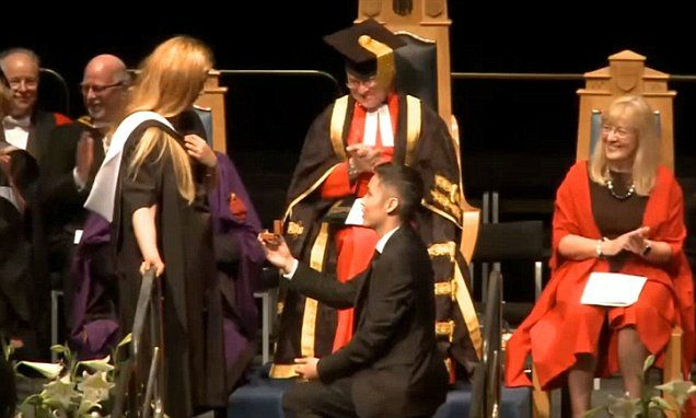 Public Marriage Proposal At Graduation Ceremony Ends Very Awkwardly