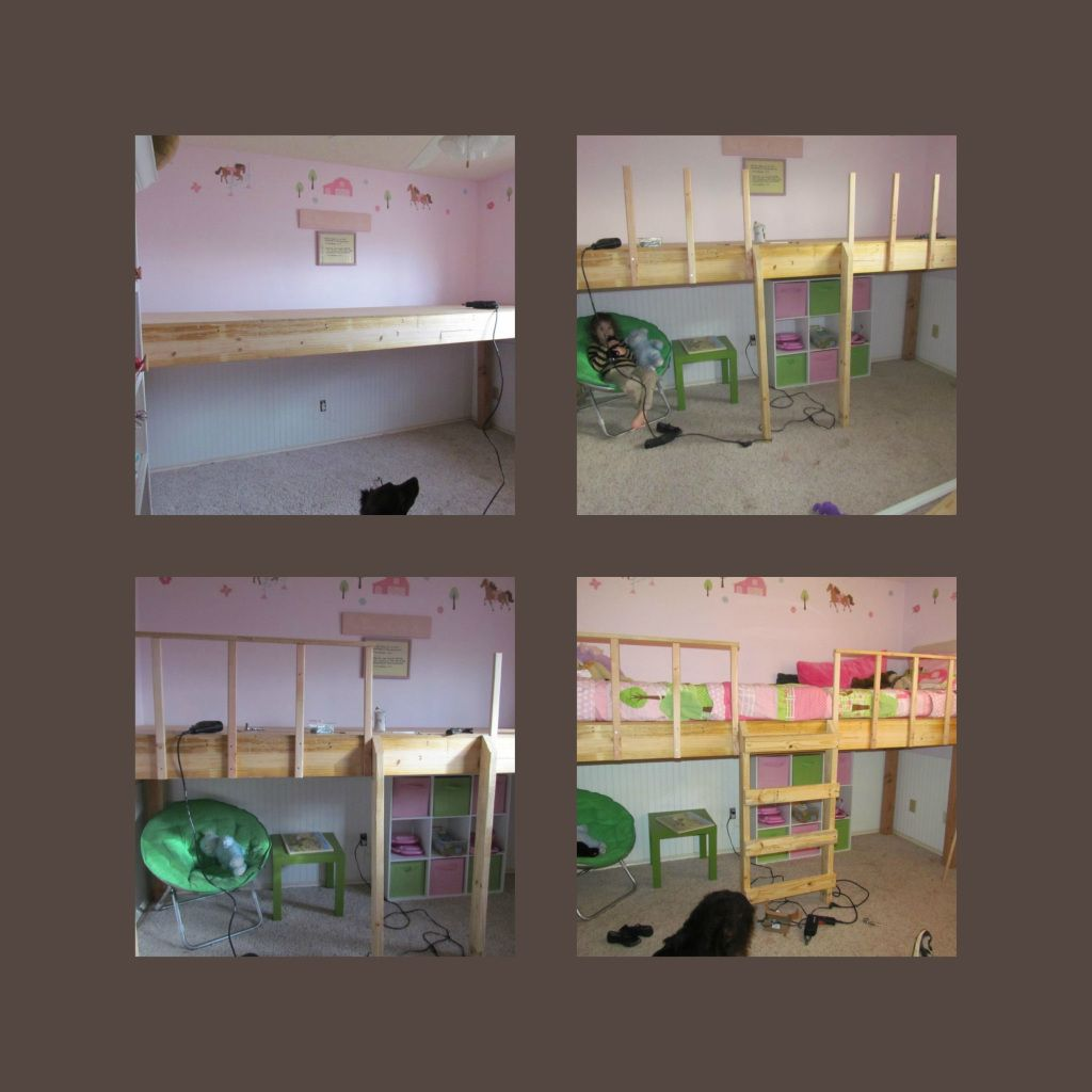 Low ceiling loft bed with desk  Girls New Loft Bed  For the Girls Room  Pinterest  Bed Bedroom