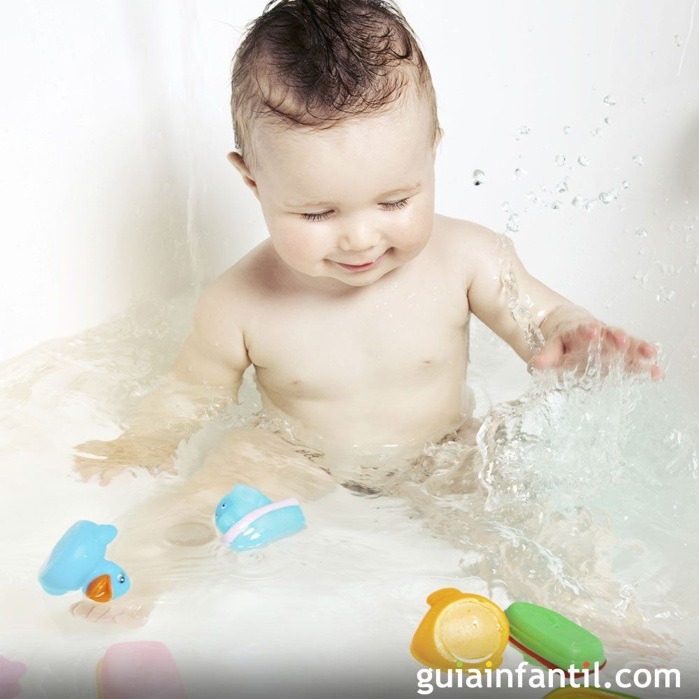 Juegos Para El Baño Del Bebé Bebe Bañar Bebe Tos En Bebes