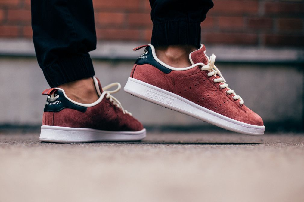 info for f78d7 015b4 adidas-Originals-Stan-Smith-Rust-Red-3