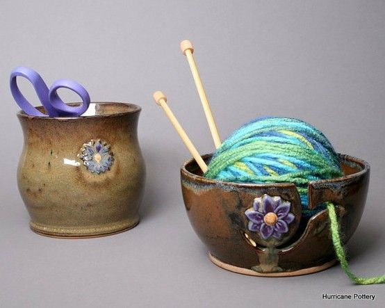 Yarn bowl and tool holder by sharon.hutson