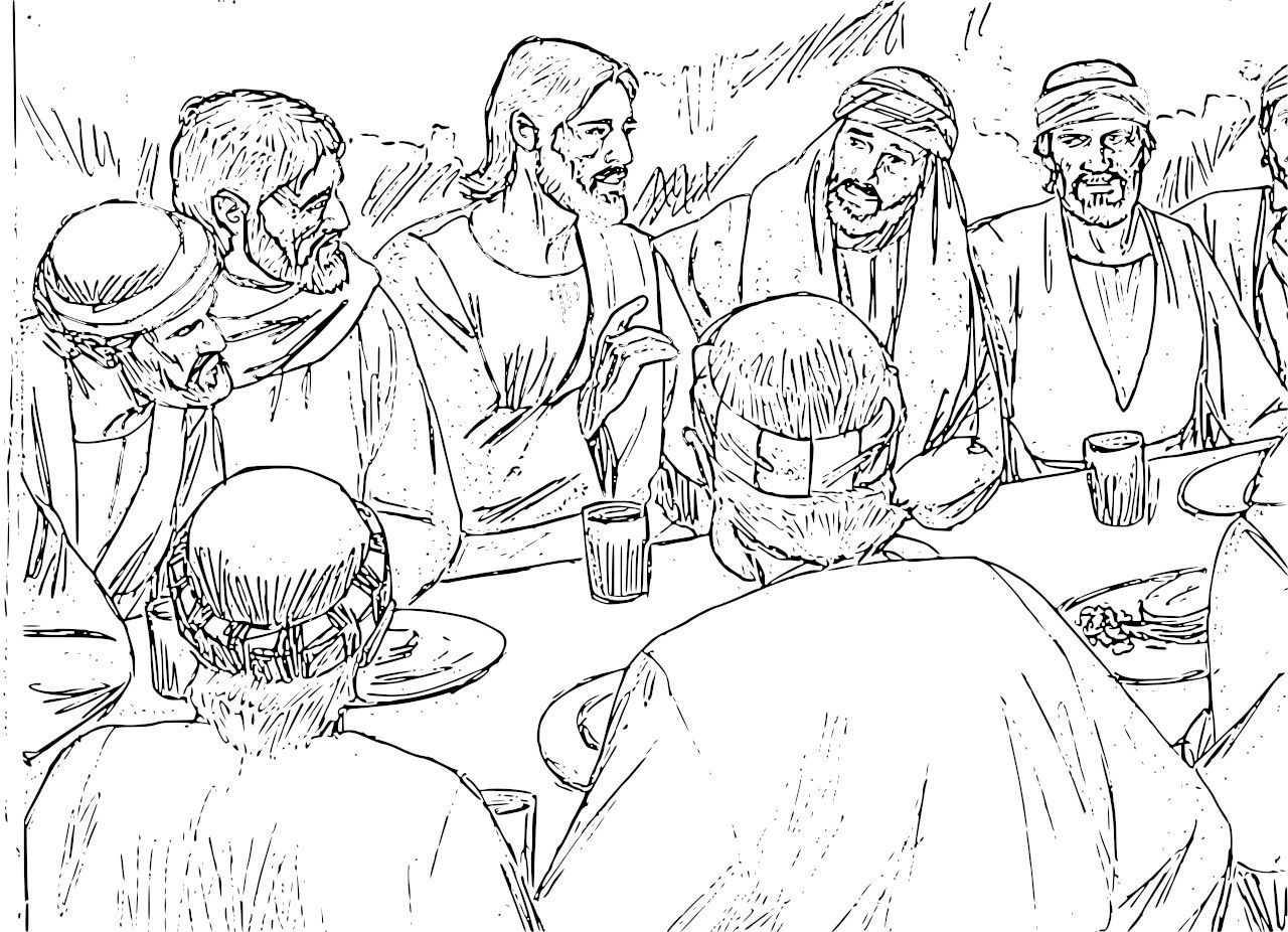 The Last Supper And Other Bible Coloring Pages