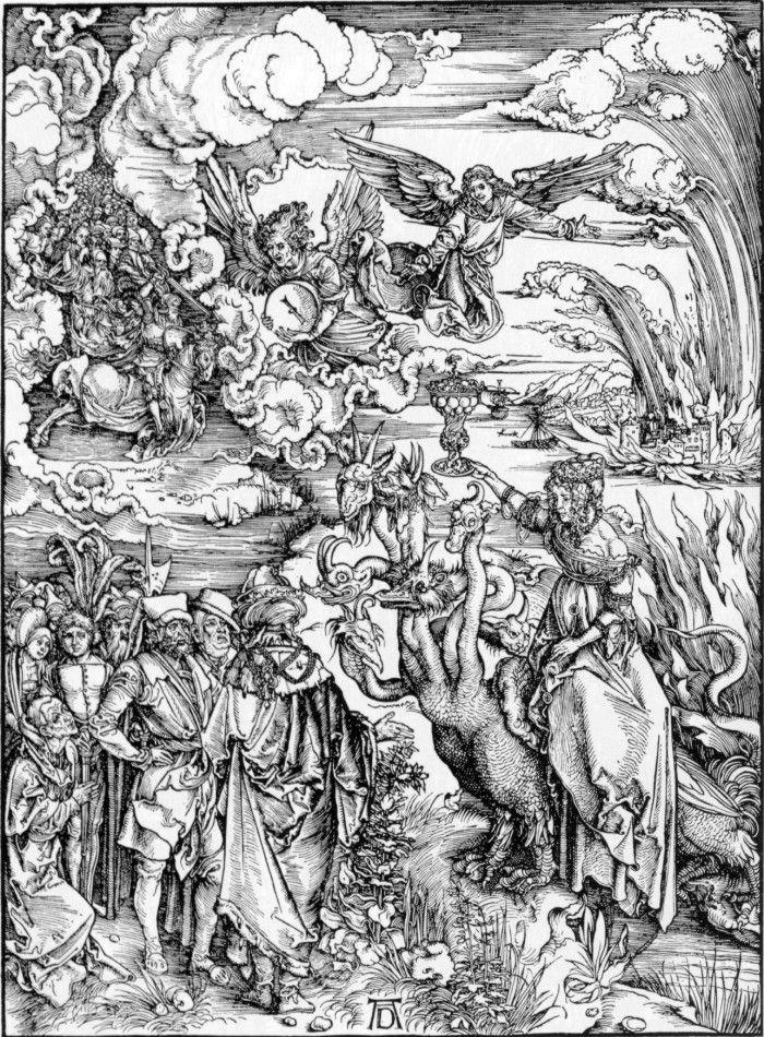 Albrecht Dürer:   Die Hure Babylon und die Händler