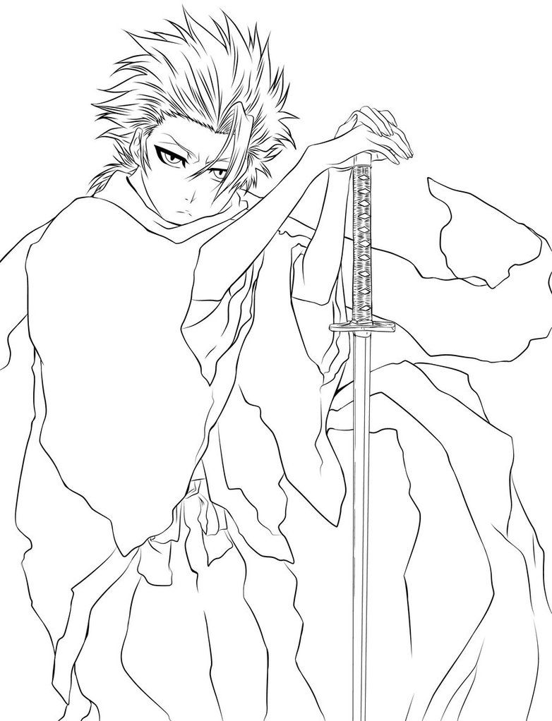 bleach coloring pages # 1