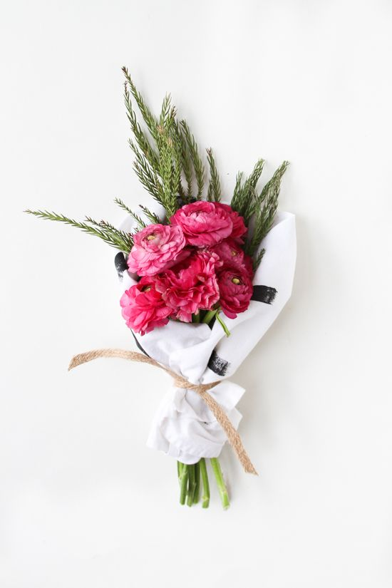 Tips for perfect holiday gift giving 6 thoughtful ideas for diy hostess gift tea towel wrapped holiday bouquet negle Choice Image