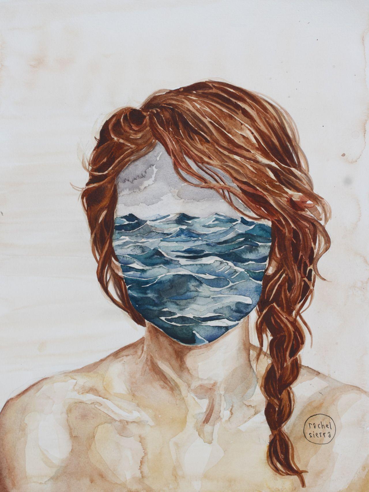 Rachelsierra Her Mind The Sea Watercolor Art Sea Art Drawings