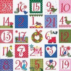 Serviette noel pour calendrier avent serviette deco noel chiffres 1 24 pas cher vendue l - Chiffres pour calendrier de l avent a imprimer ...