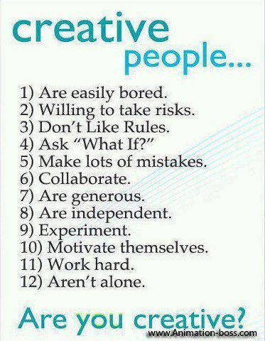 Are you a creative people?