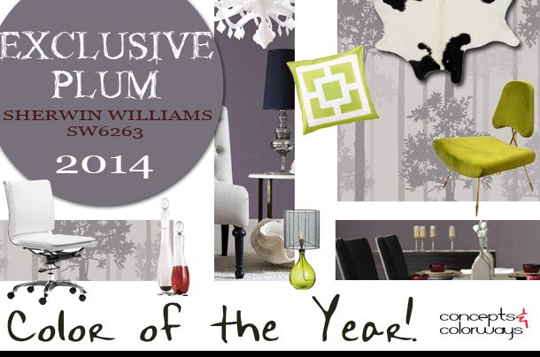 sherwin williams color of the year 2014 exclusive plum 2014