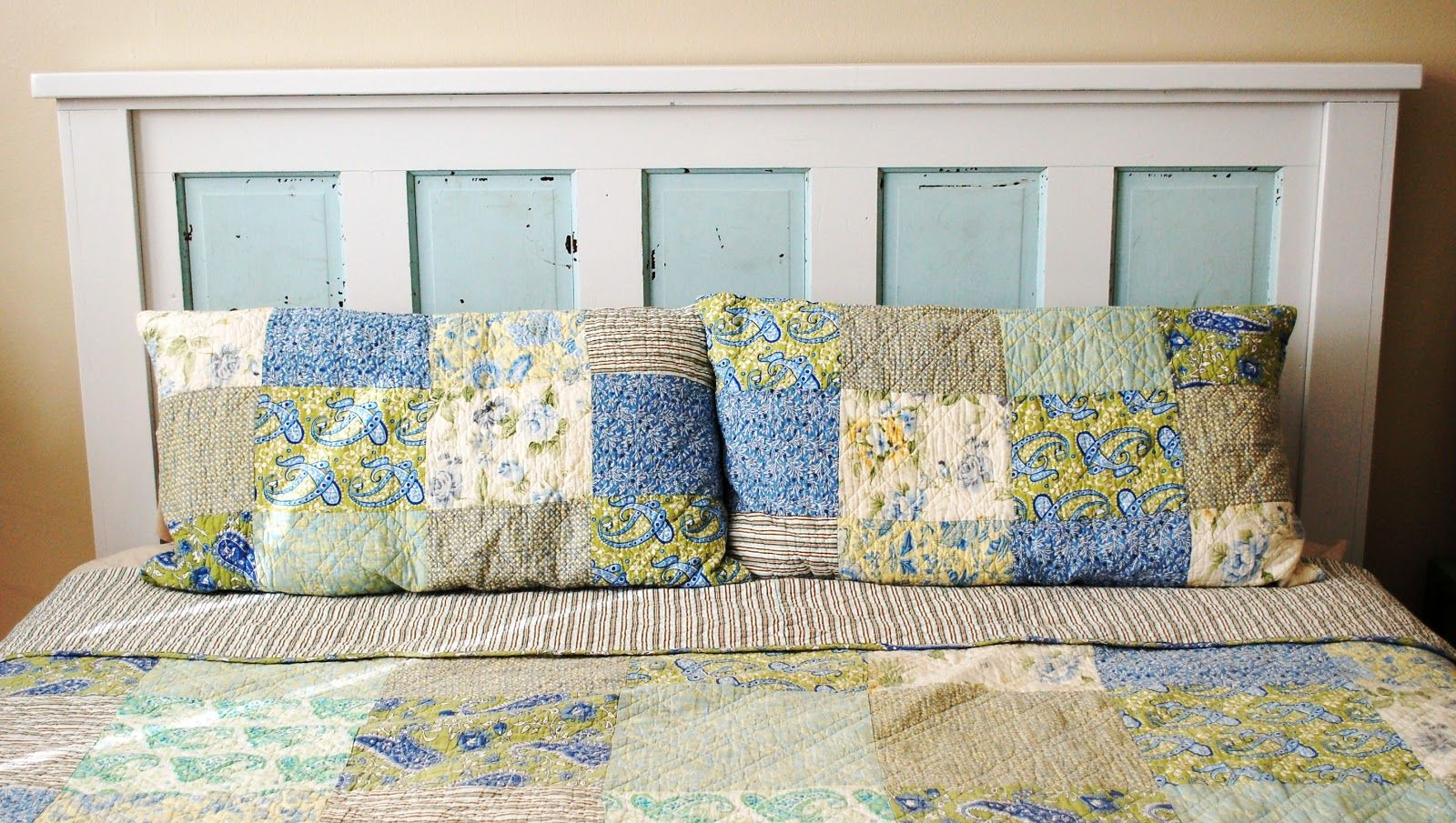 Ainut she crafty how to build a headboard from an old door art