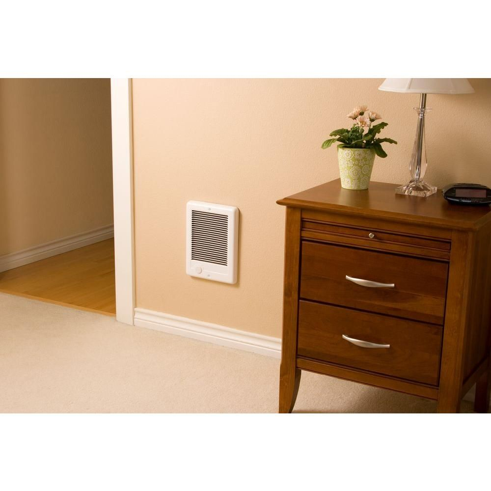 Cadet Com Pak 2 000 Watt 240 Volt Fan Forced In Wall Electric Heater In White Csc202tw The Home Depot In 2020 Wall Mounted Heater Tiny House Decor Home