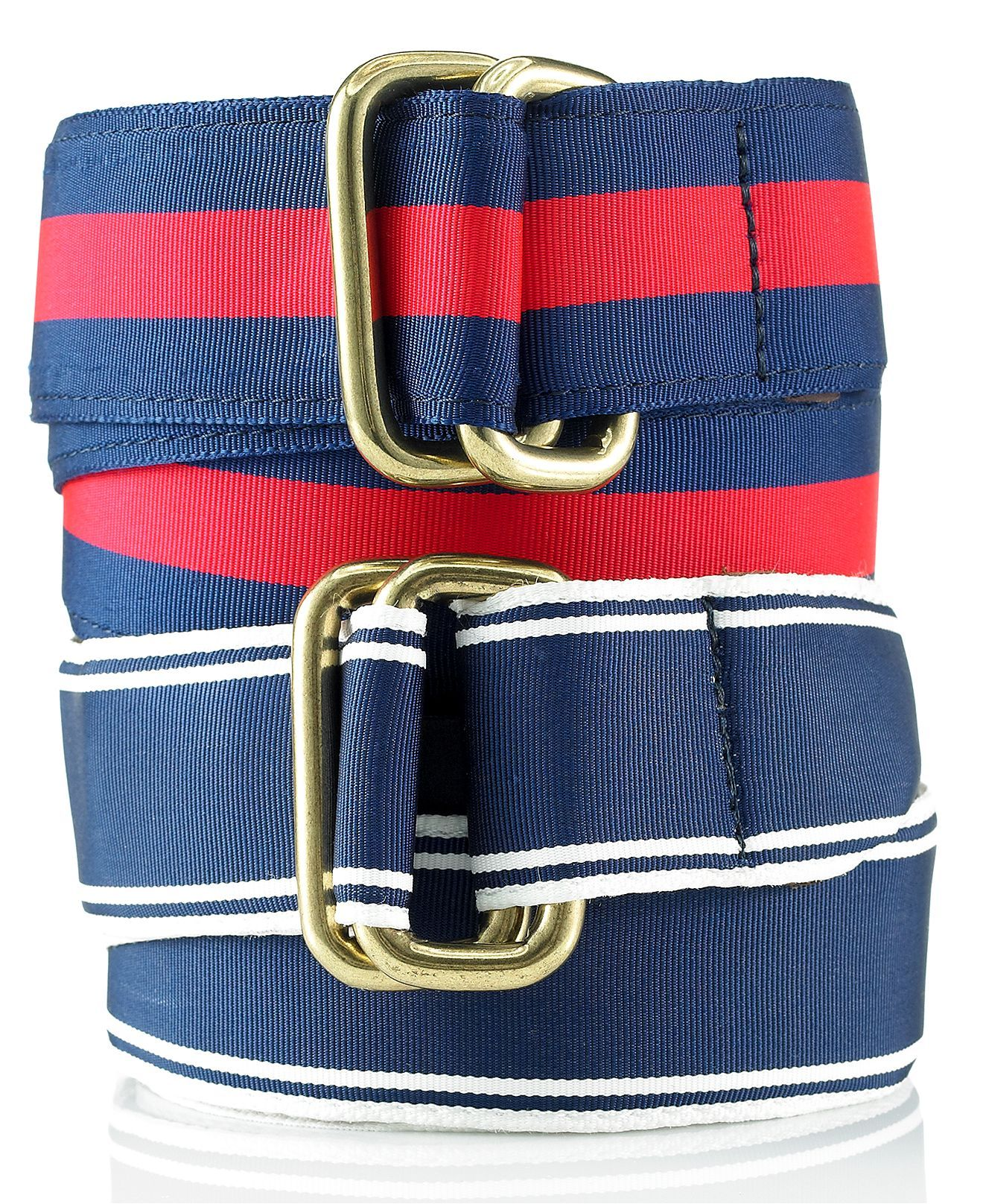 Tommy Hilfiger Belt Stitched Double D Ring Tommy Hilfiger Belt