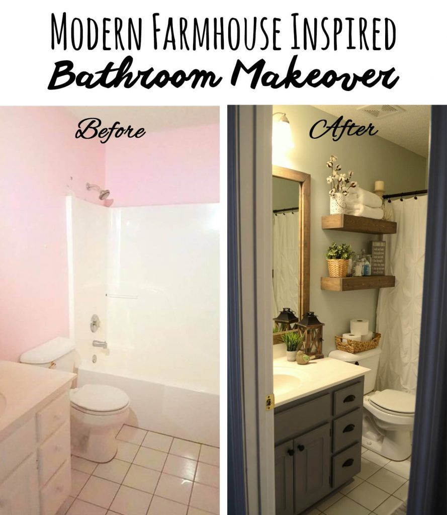 28 Before And After Budget Friendly Bathroom Makeovers To Inspire Your Next Home Improvement Project Bathroom Makeovers On A Budget Cheap Bathroom Makeover Small Bathroom Makeover