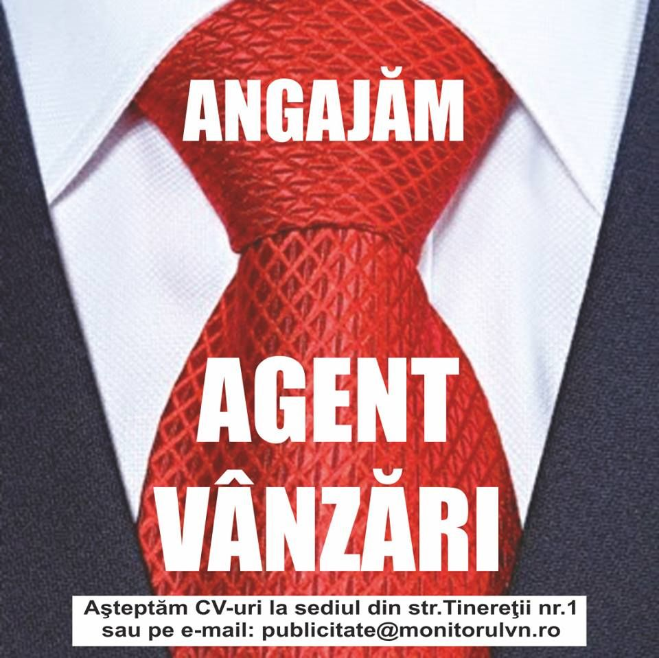 Locuri de muncă în Focșani Agent vânzări Monitorul de