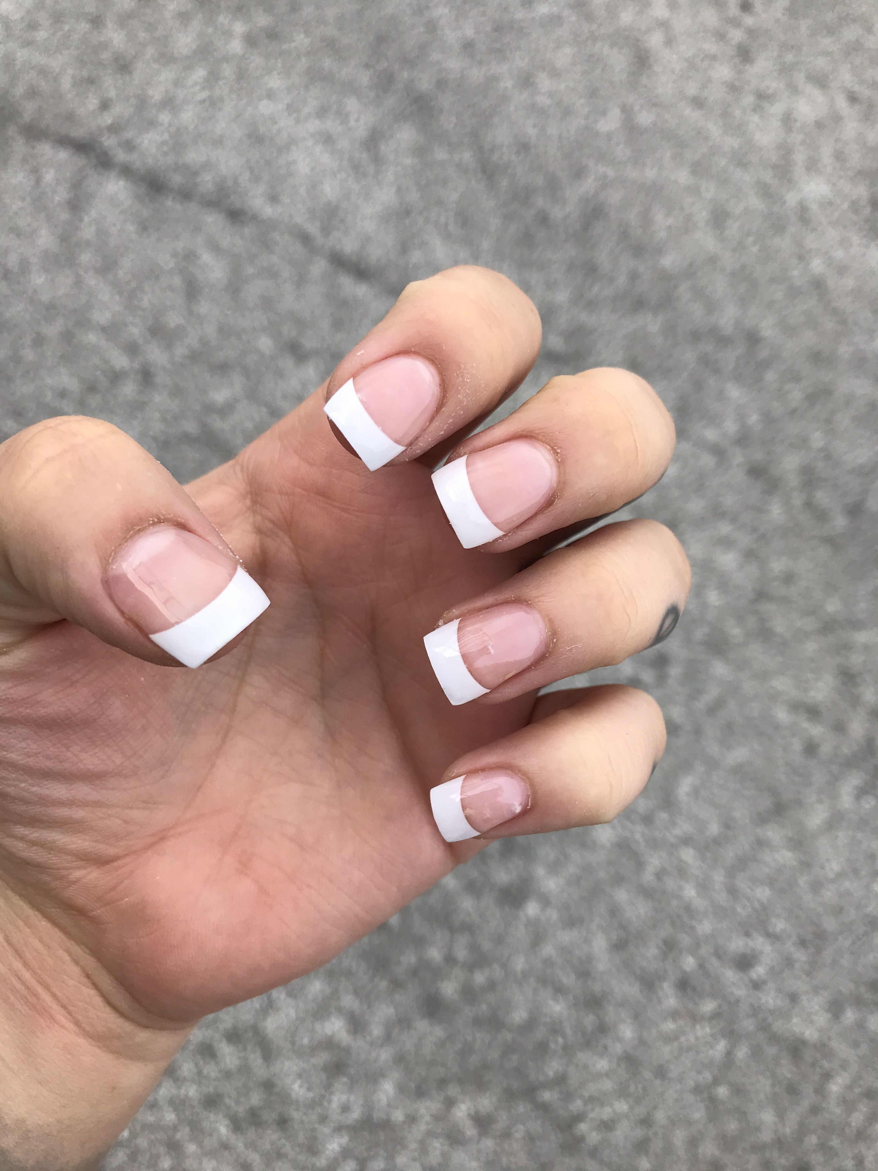 Short Square French Tip Nails French Tip Nails Short French Tip Nails Nail Tips