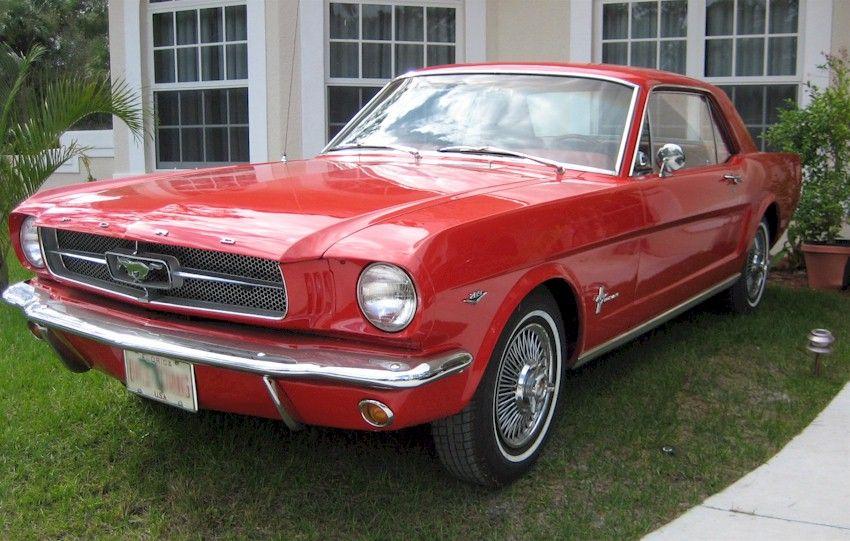 Rangoon Red 1964 Mustang Hardtop Mustang Family Car 1964 Ford
